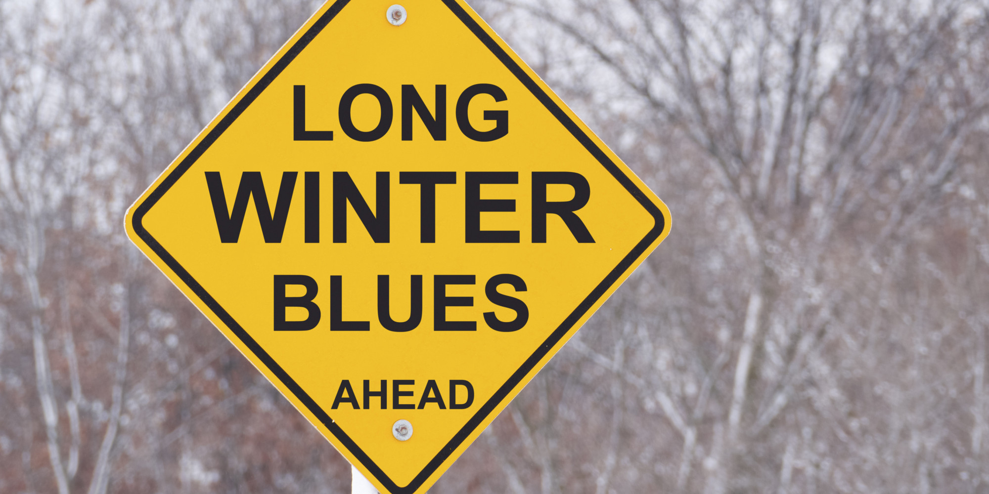 Long Winter Blues Ahead Road Sign